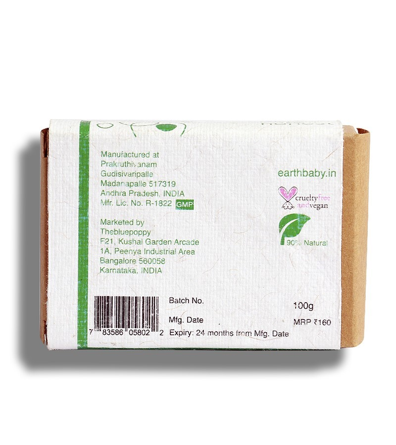 earthBaby + baby bath & shampoo + Neem & Aloevera Handmade Soap + 100 gm + discount