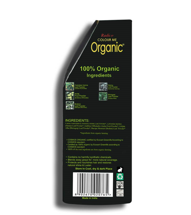 Radico + hair colour + Certified Organic Hair Color Dye - Blonde Shades + Caramel Blonde (100 gm) + shop