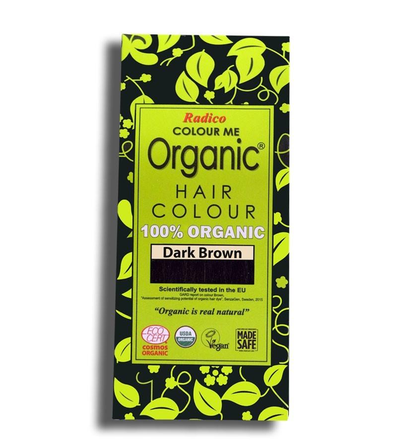 Radico + hair colour + Certified Organic Hair Color Dye -Brown Shades + Dark Brown (100 gm) + buy