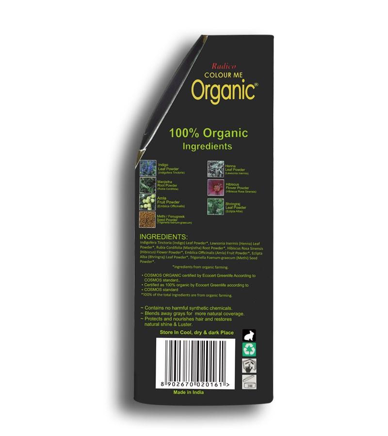 Radico + hair colour + Certified Organic Hair Color Dye -Brown Shades + Brown (100 gm) + shop