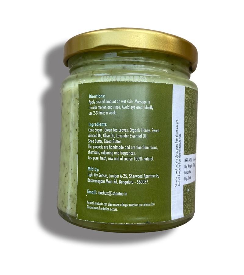 Shantae + body scrubs & exfoliants + Shantae Face and Body Scrub Green Tea + 200 gm + discount