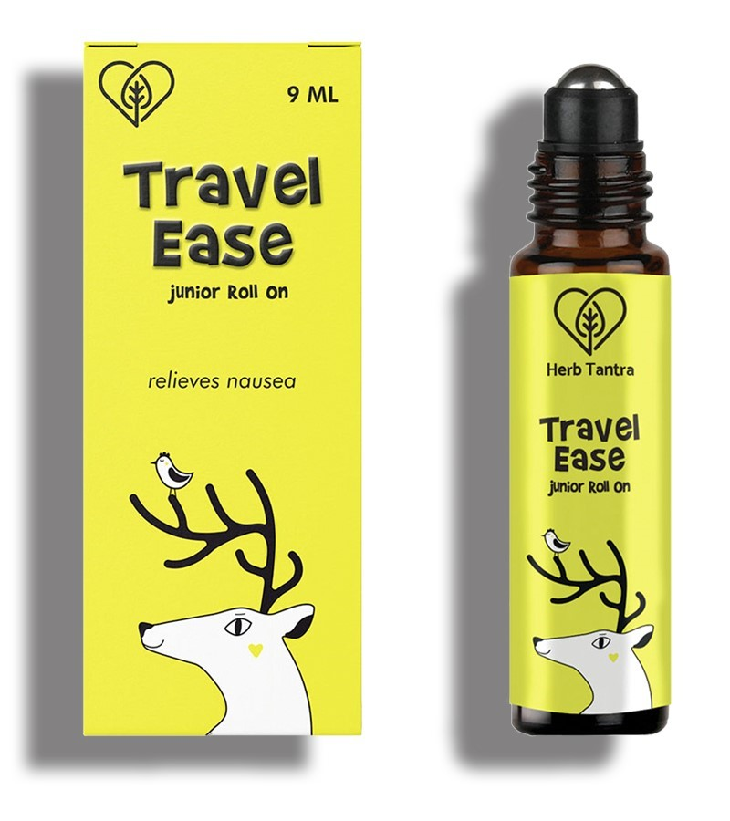 Herb Tantra + pain relief + Travel Ease Junior Kids Roll On For Motion Sickness and Nausea + 9 ml + shop