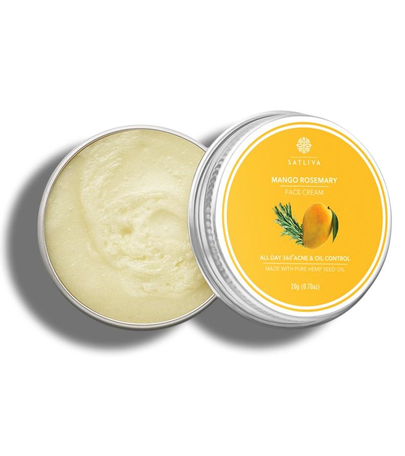 Satliva + face serums + creams + Mango Rosemary Face Cream + 20g + shop