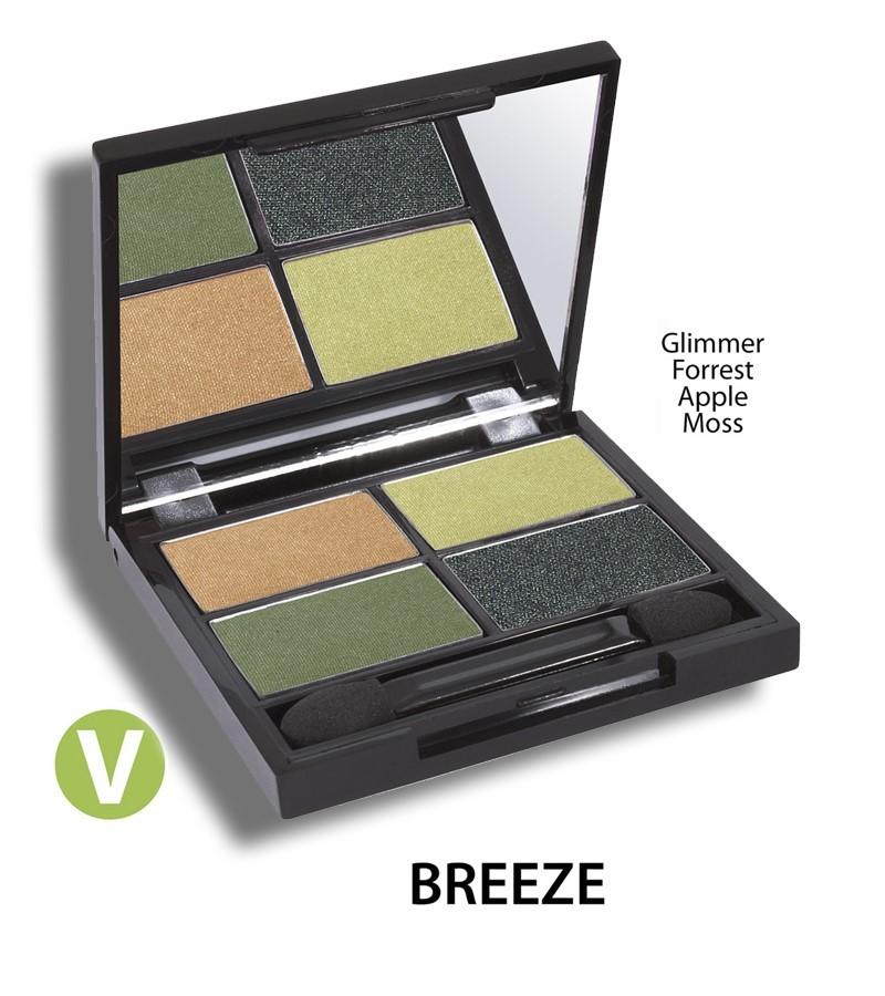 Zuii Organic + eyes + Flora Eyeshadow QUAD Pallet + Breeze + buy