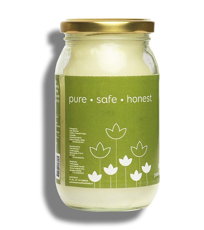 earthBaby + baby oils & creams + 100% Natural origin Cold-Pressed Coconut Oil + 400ml + shop