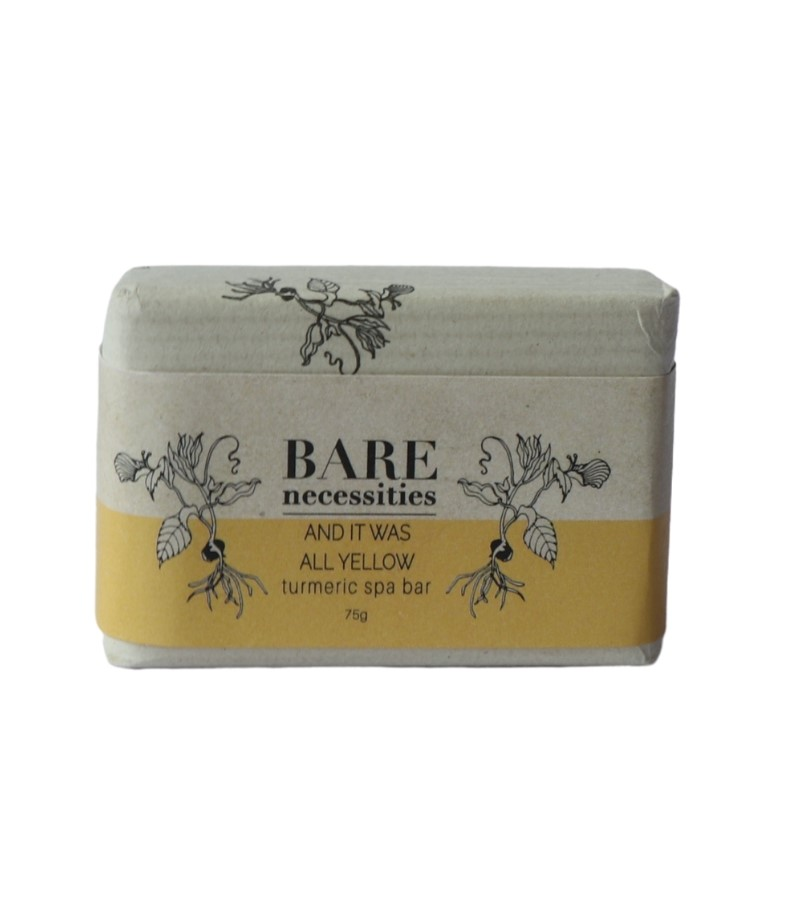 Bare Necessities + soaps + liquid handwash + Turmeric Spa Bar : And It was All Yellow + 75 gm (min qty 2) + discount