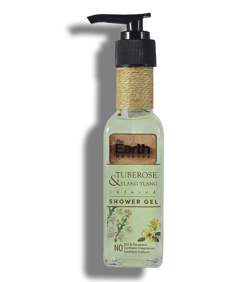 The Earth Reserve + shower gel + body wash + Earthy Blends Infused Shower Gel + Tuberose & Ylang Ylang + buy