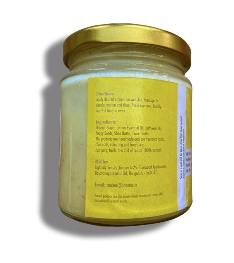 Shantae + body scrubs & exfoliants + Face and Body Scrub Lemon and Poppy Seeds + 200 gm + discount