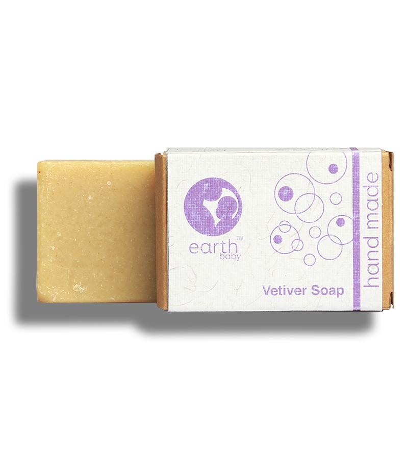 earthBaby + baby bath & shampoo + Vetiver Handmade Soap + 100 gm + shop