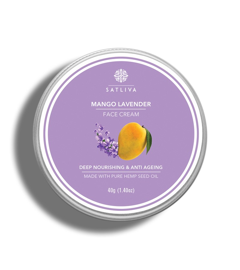 Satliva + face serums + creams + Mango Lavender Face Cream + 40g + buy