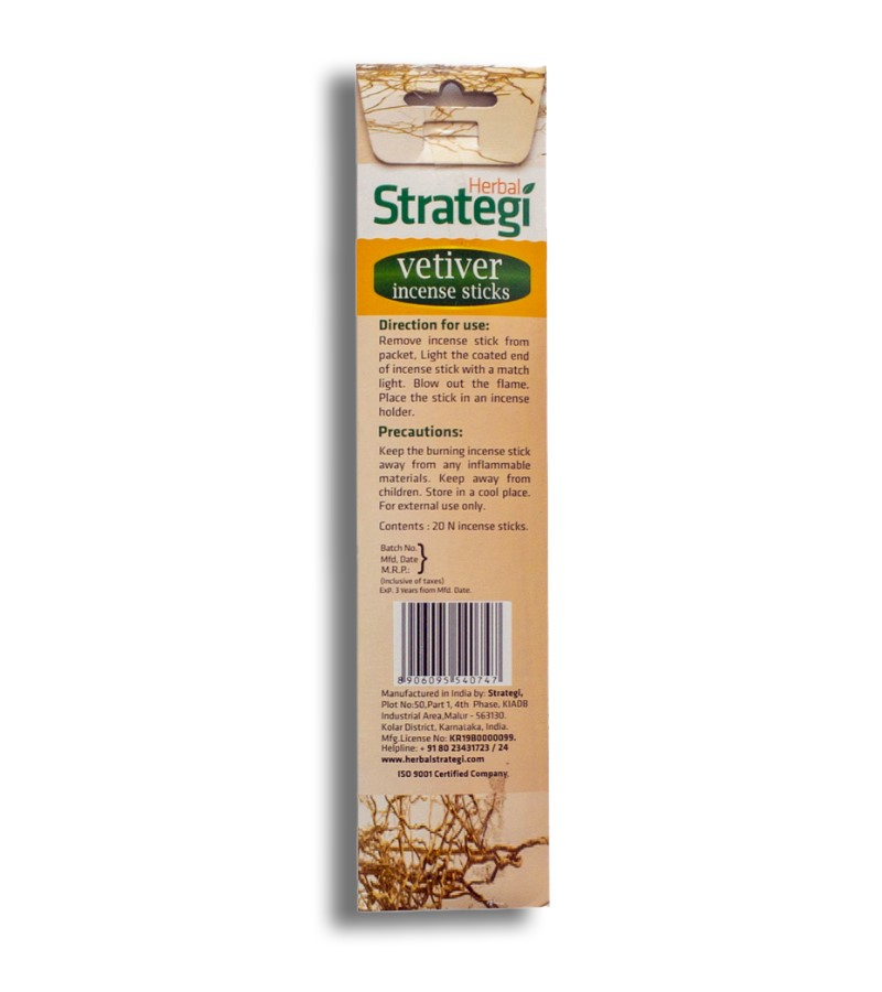 Herbal Strategi + incense sticks + Aromatic Incense Sticks (min qty 5) + Vetiver + shop