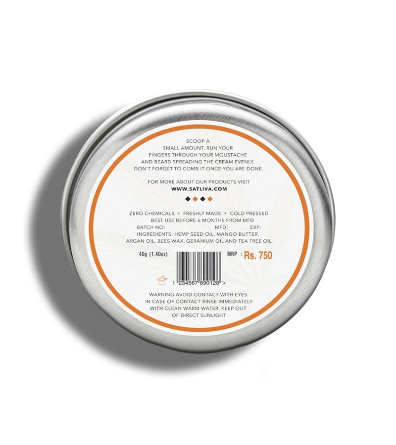 Satliva + beard + Beard N Moochh Cream + 40 gm + discount