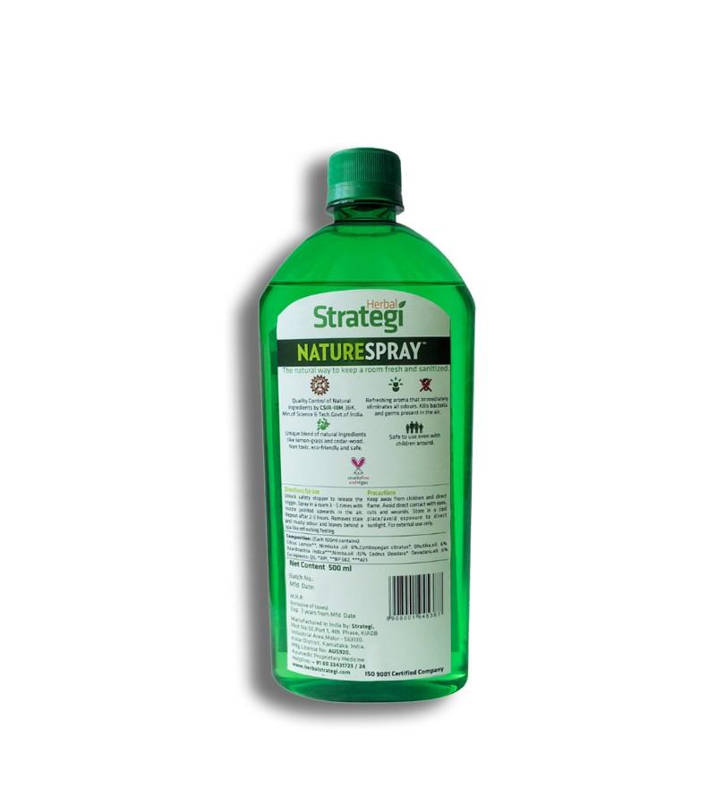 Herbal Strategi + room sprays + Room Disinfectant and Freshener - Lemon + 500 ml + shop