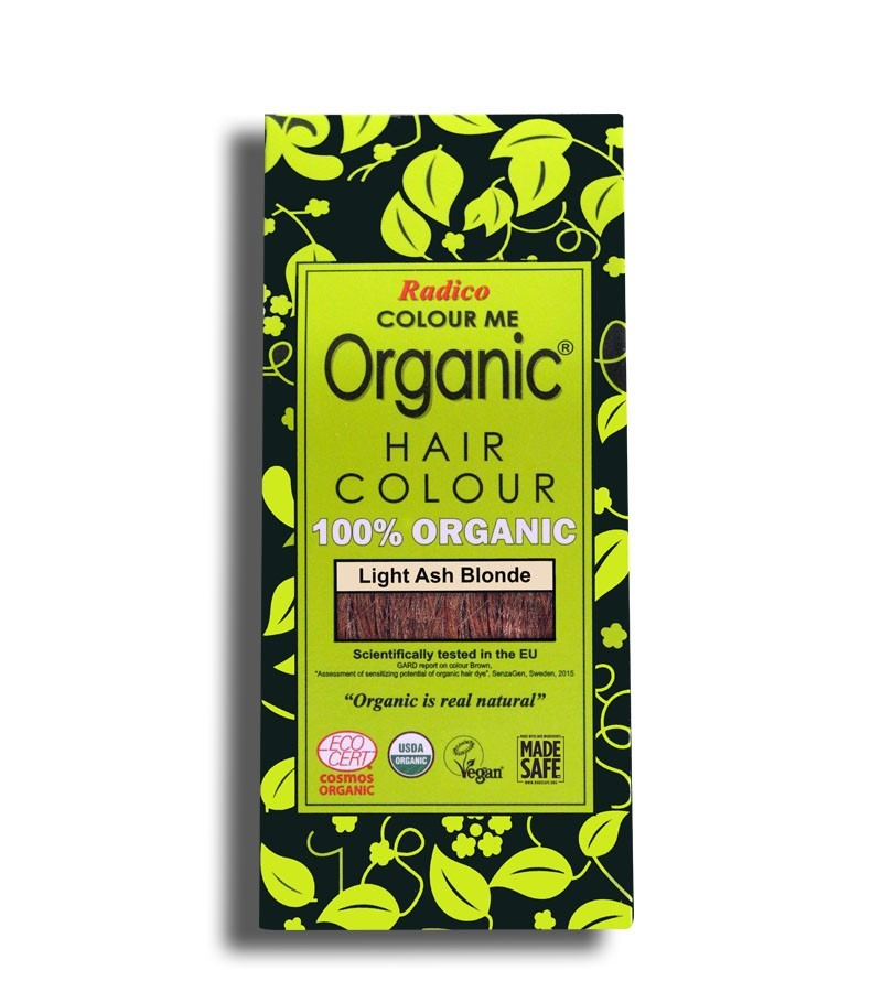 Radico + hair colour + Certified Organic Hair Color Dye - Blonde Shades + Light Ash Blonde (100 gm) + buy