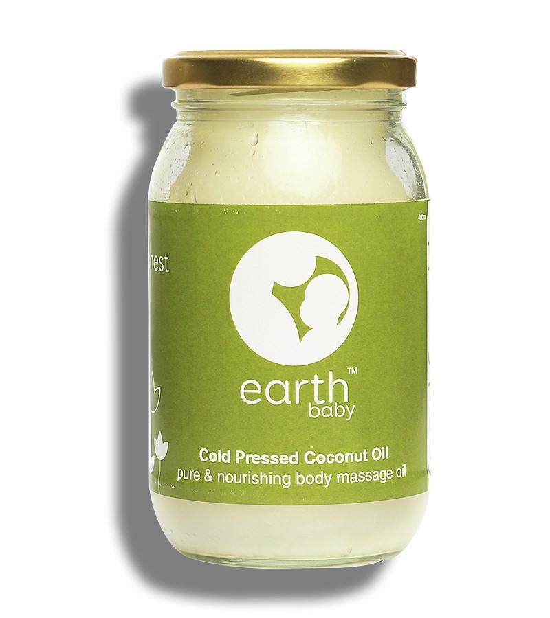 earthBaby + baby oils & creams + 100% Natural origin Cold-Pressed Coconut Oil + 400ml + buy