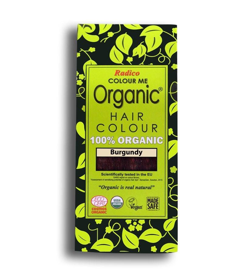 Radico + hair colour + Certified Organic Hair Color Dye - Red Shades + Burgandy (100 gm) + buy