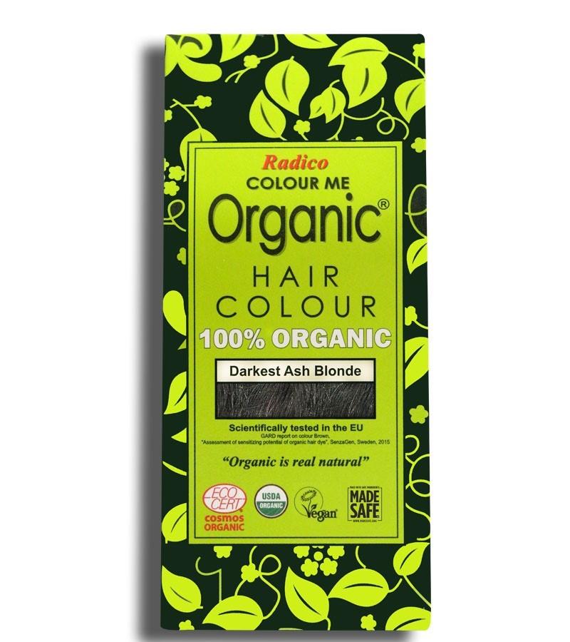 Radico + hair colour + Certified Organic Hair Color Dye - Blonde Shades + Darkest Ash Blonde (100 gm) + buy