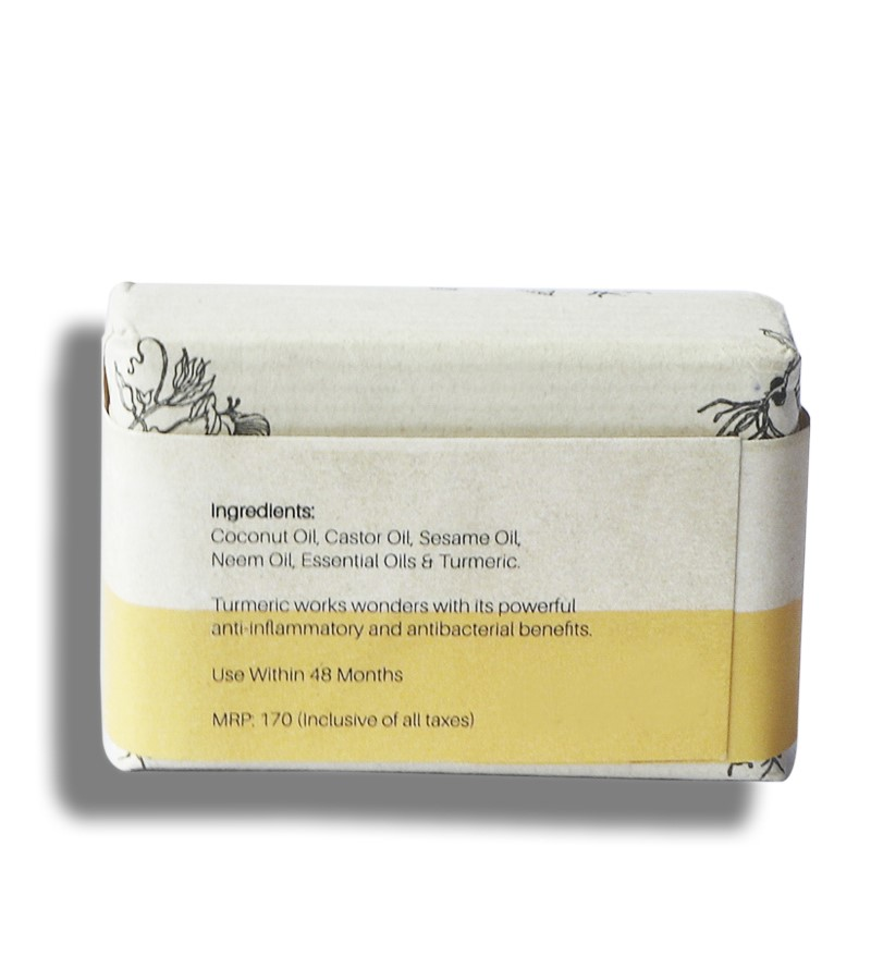 Bare Necessities + soaps + liquid handwash + Turmeric Spa Bar : And It was All Yellow + 75 gm (min qty 2) + shop