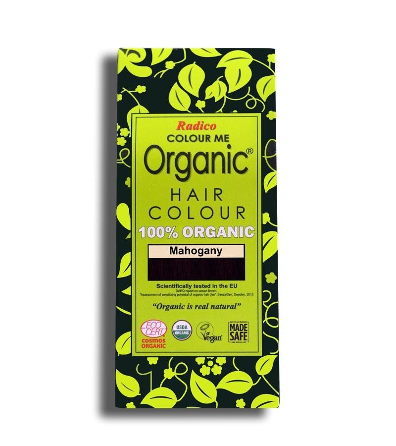 Radico + hair colour + Certified Organic Hair Color Dye - Red Shades + Mahogany (100 gm) + buy