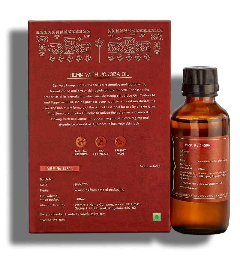 Satliva + face oils + Hemp with Jojoba Face and Body Oil + 100 ml + discount
