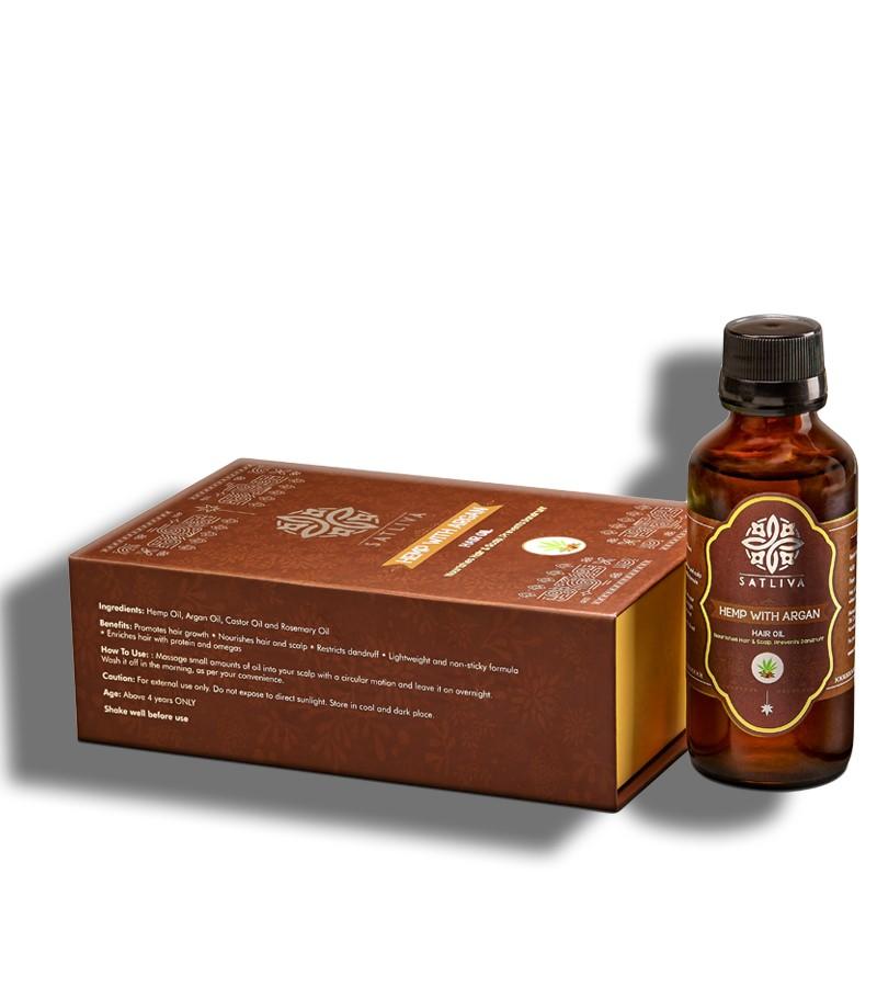 Satliva + hair oil + serum + Hemp With Argan Hair Oil + 100 ml + shop