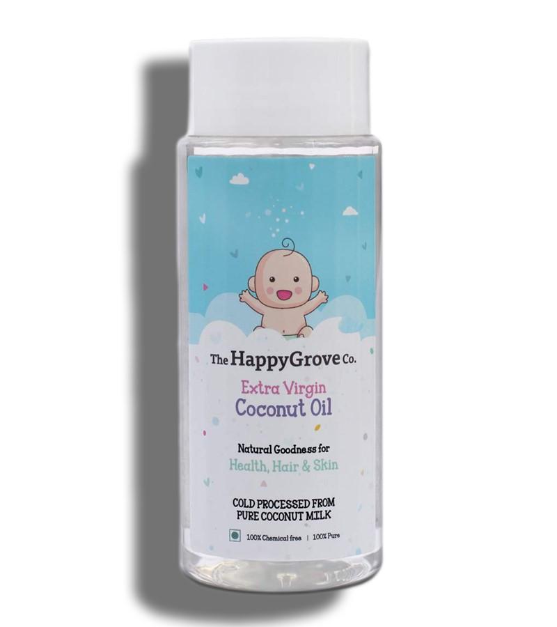 The Happy grove + baby oils & creams + The HappyGrove Co. Extra Virgin Coconut Oil for Babies + 200 ml + buy