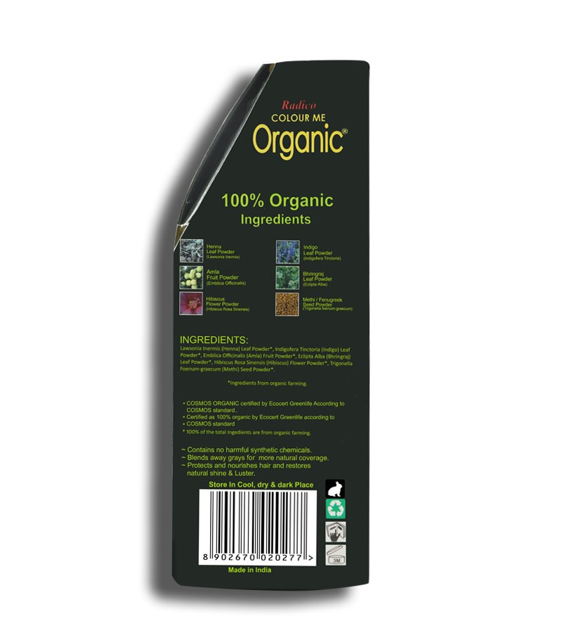 Radico + hair colour + Certified Organic Hair Color Dye - Red Shades + Auburn Red (100 gm) + shop