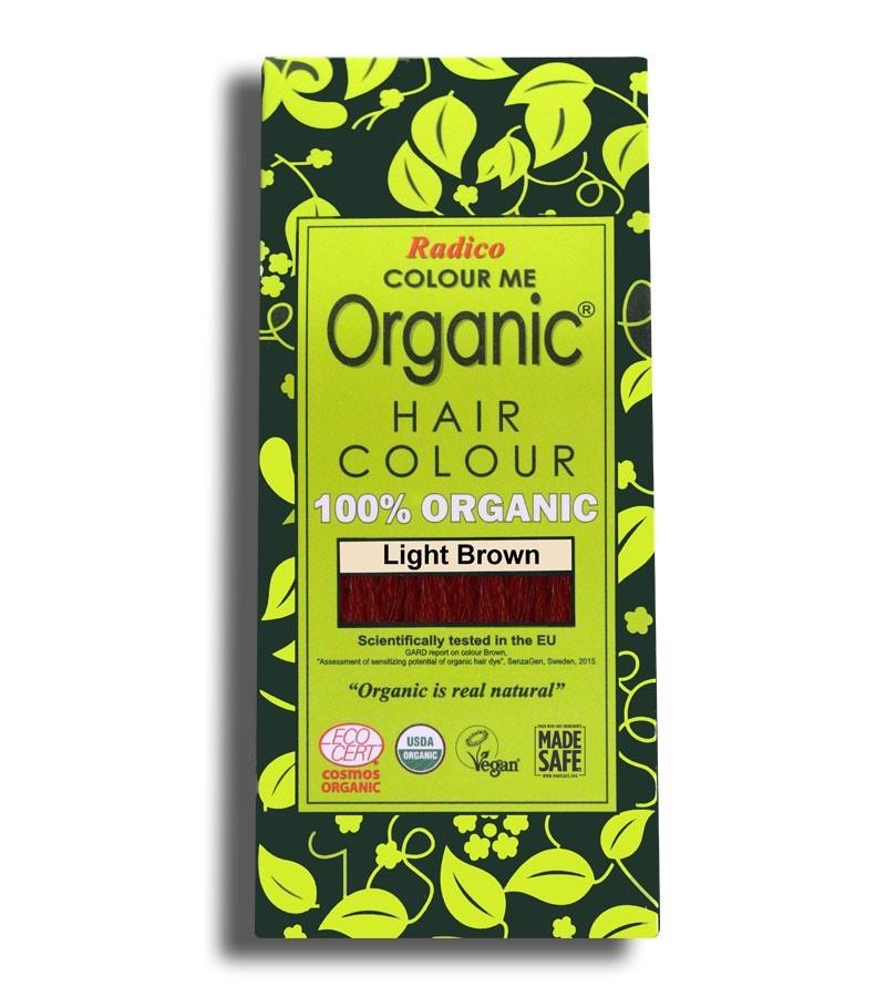 Radico + hair colour + Certified Organic Hair Color Dye -Brown Shades + Light Brown (100 gm) + buy