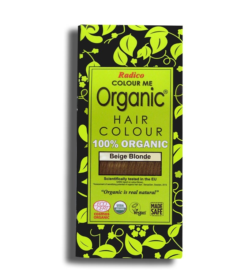 Radico + hair colour + Certified Organic Hair Color Dye - Blonde Shades + Beige Blonde (100 gm) + buy