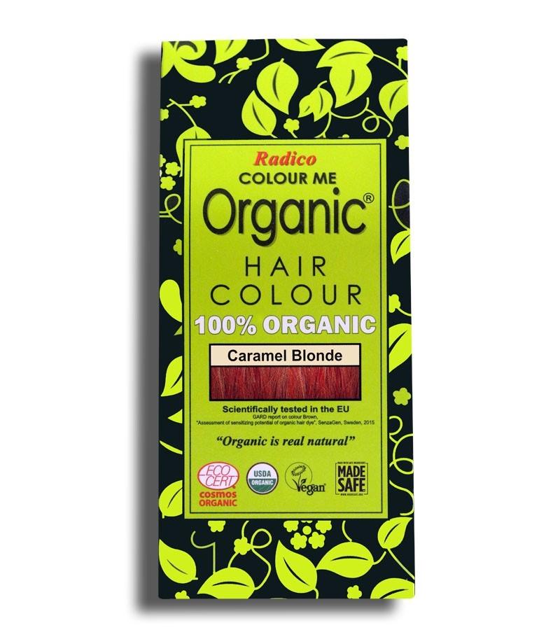 Radico + hair colour + Certified Organic Hair Color Dye - Blonde Shades + Caramel Blonde (100 gm) + buy