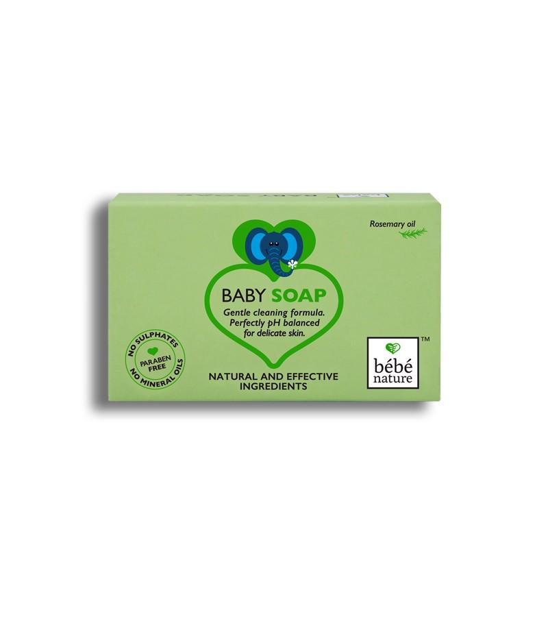 Bebe Nature + baby bath & shampoo + Bebe Nature Natural 100% Veg Baby Soap With Rosemary Oil + 100 gm + buy