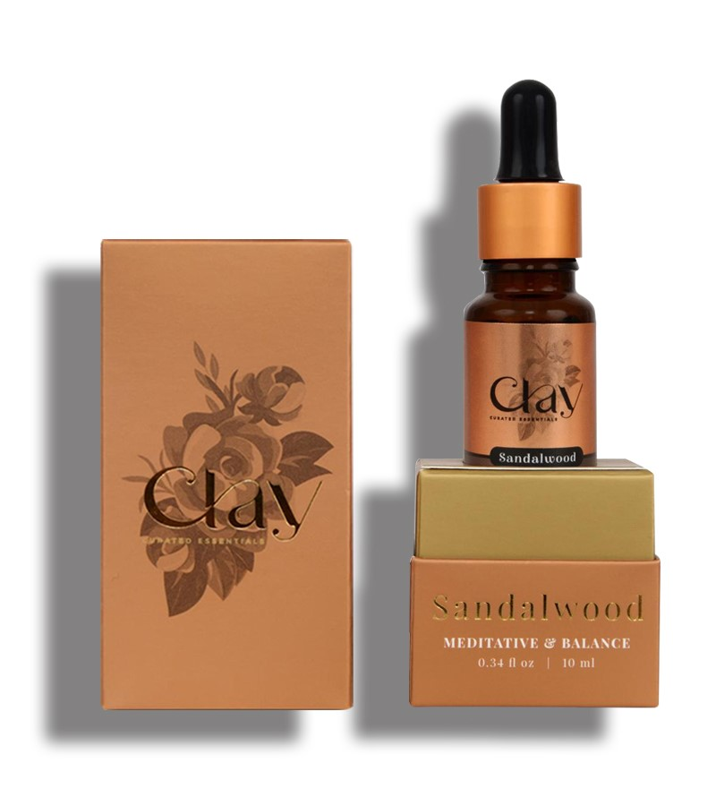 Clay Essentials + essential oils + Sandal essential Oil + 10 ml + online