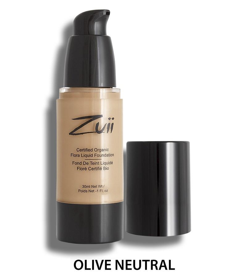 Zuii Organic + face + Liquid Foundation + Olive Neutral (30 ml) + buy