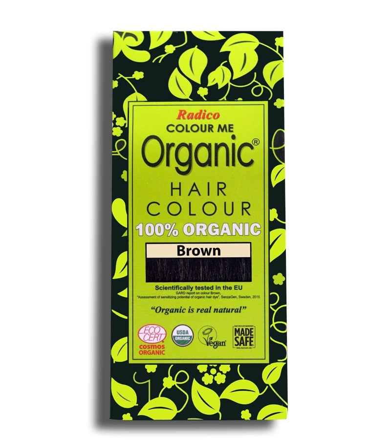 Radico + hair colour + Certified Organic Hair Color Dye -Brown Shades + Brown (100 gm) + buy