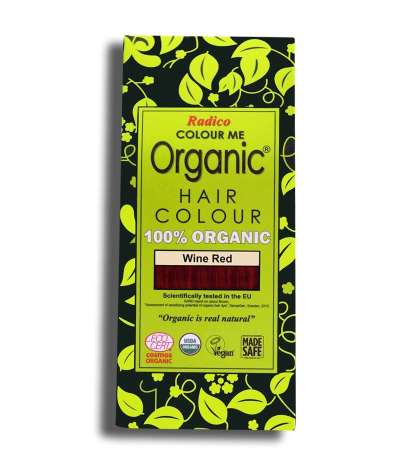 Radico + hair colour + Certified Organic Hair Color Dye - Red Shades + Wine Red (100 gm) + buy