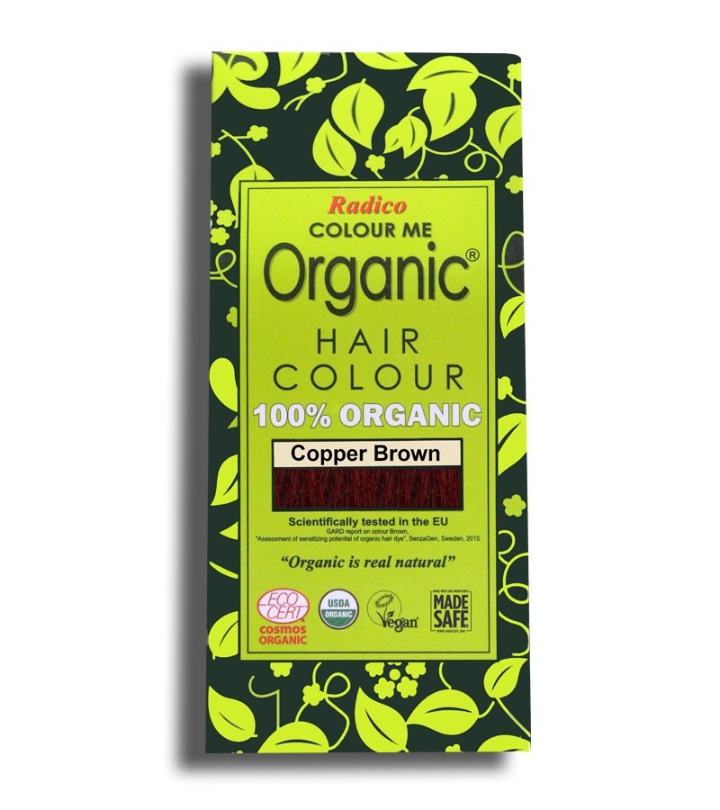 Radico + hair colour + Certified Organic Hair Color Dye -Brown Shades + Copper Brown (100 gm) + buy