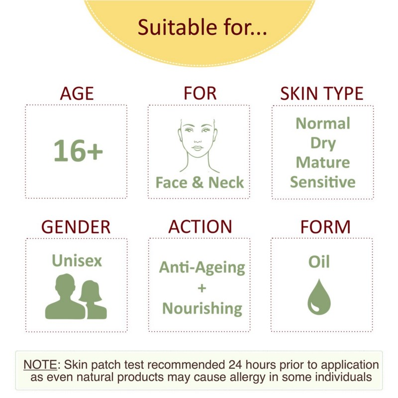 Prakrta + face oils + Serum Of Youth with Vitamin E & CoQ10 - Face oil for dry  mature skin | 100% natural & cold pressed + 30 ml + online