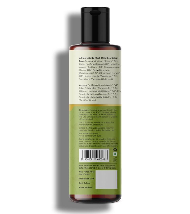 Life & Pursuits + hair oil + serum + Organic Amla Oil + 200 ml + shop