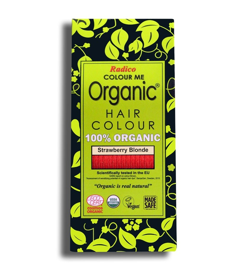 Radico + hair colour + Certified Organic Hair Color Dye - Blonde Shades + Strawberry Blonde (100 gm) + buy