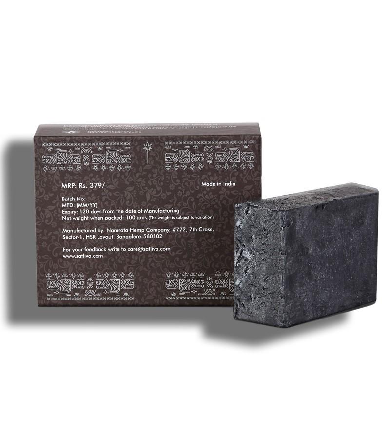 Satliva + shampoo + dry shampoo + Hemp with Argan & Activated Charcoal Shampoo Bar + 100 gm + discount