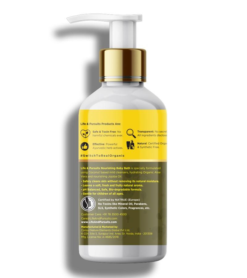 Life & Pursuits + baby bath & shampoo + Natural Nourishing Baby Body Wash + 200ml + shop