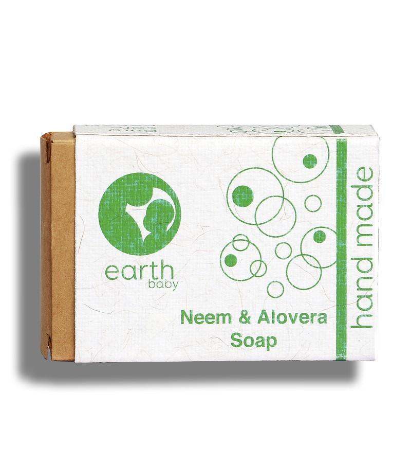 earthBaby + baby bath & shampoo + Neem & Aloevera Handmade Soap + 100 gm + buy