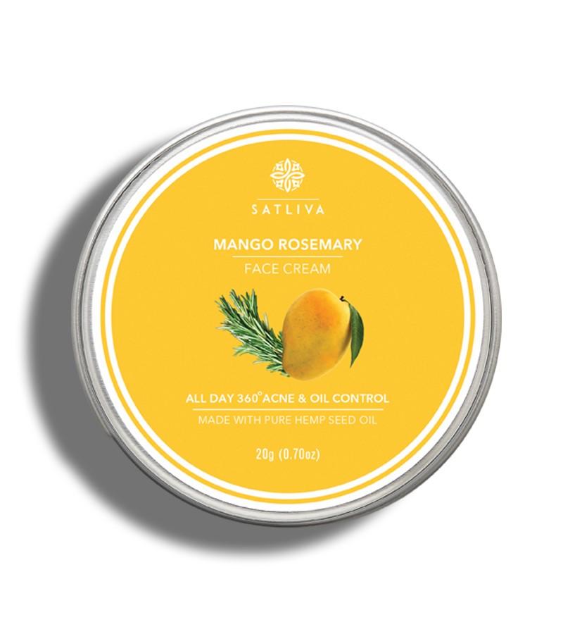 Satliva + face serums + creams + Mango Rosemary Face Cream + 20g + buy