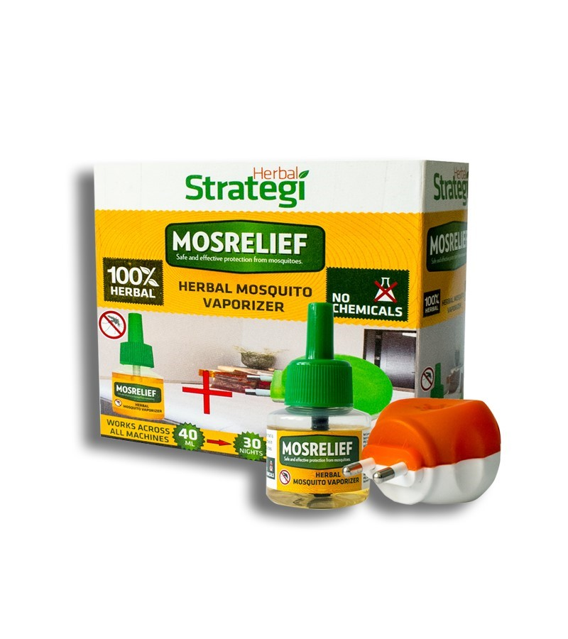 Herbal Strategi + insect repellents + Mosquito Repellent Vaporiser + 40ML + Machine (min 2 qty) + buy