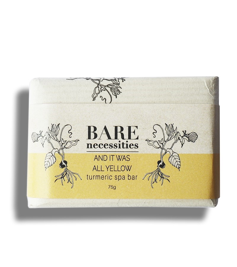 Bare Necessities + soaps + liquid handwash + Turmeric Spa Bar : And It was All Yellow + 75 gm (min qty 2) + buy