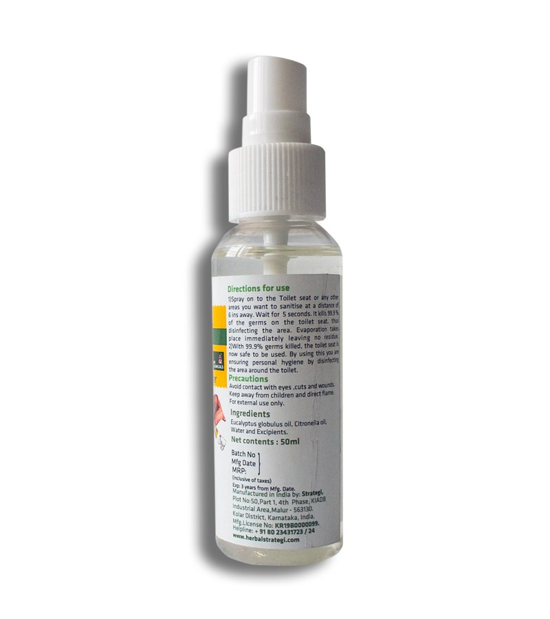 Herbal Strategi + floor + toilet cleaners + Toilet Seat Sanitizer + 50 ml (min qty 2) + shop