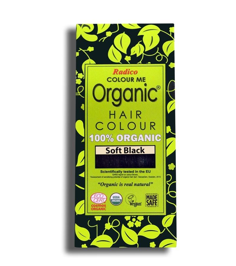 Radico + hair colour + Certified Organic Hair Color Dye - Soft Black + 100 gm + buy