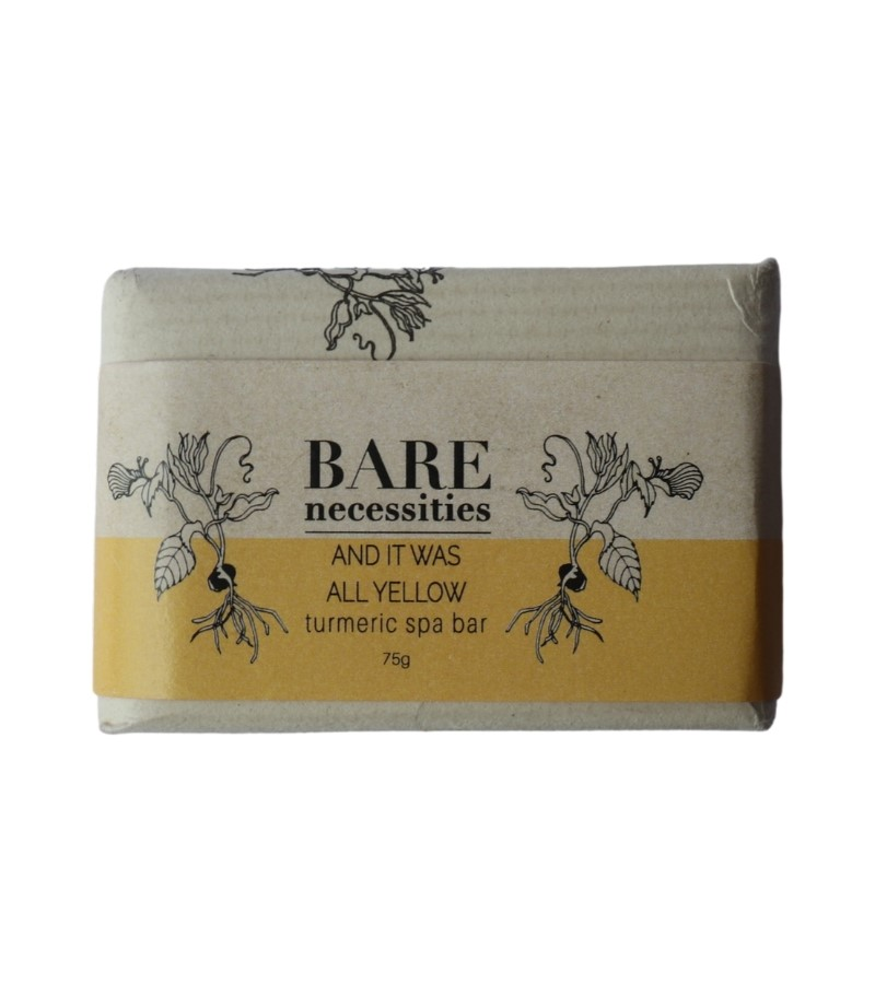 Bare Necessities + soaps + liquid handwash + Turmeric Spa Bar : And It was All Yellow + 75 gm (min qty 2) + deal