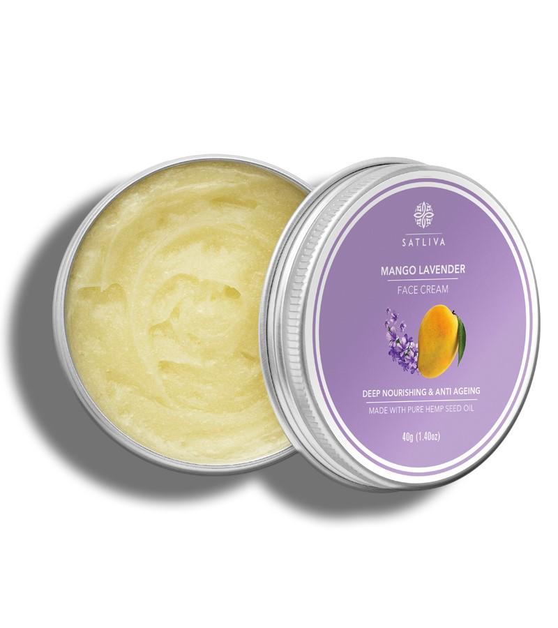 Satliva + face serums + creams + Mango Lavender Face Cream + 40g + shop