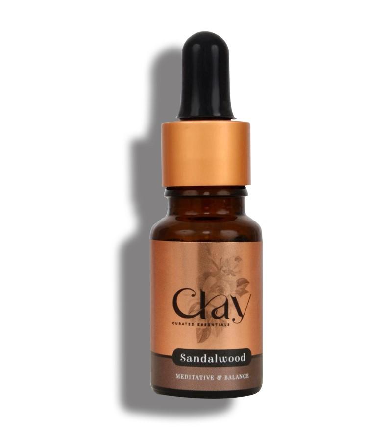 Clay Essentials + essential oils + Sandal essential Oil + 10 ml + buy
